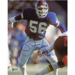 Lawrence Taylor Signed New York Giants 8x10 Photo (Beckett COA)