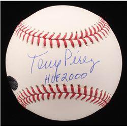 "Tony Perez Signed OML Baseball Inscribed ""HOF 2000"" (Schwartz COA)"