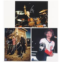 Lot of (3) Musician 8x10 Photos Signed by (6) with Lars Ulrich, Dennis DeYoung, Tyler Connolly, Dave