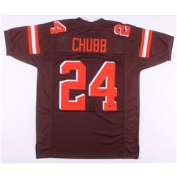 Nick Chubb Signed Cleveland Browns Jersey (Schwartz COA)