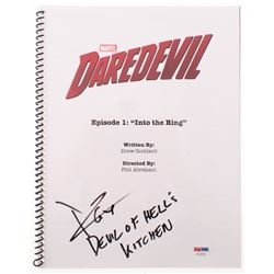 """Charlie Cox Signed """"Daredevil: Into the Ring"""" Episode Script Inscribed """"Devil of Hell's Kitchen"""" (PS"""