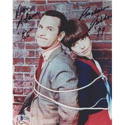 "Don Adams  Barbara Feldon Signed ""Get Smart"" 8x10 Photo Inscribed ""86""  ""99"" (Beckett COA)"
