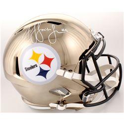 JuJu Smith-Schuster Signed Pittsburgh Steelers Full-Size Chrome Speed Helmet (Schwartz COA)