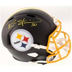 Ryan Shazier Signed Pittsburgh Steelers Full-Size Custom Matte Black Speed Helmet (Schwartz COA)