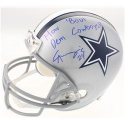 "Chidobe Awuzie Signed Dallas Cowboys Full-Size Helmet Inscribed ""How 'Bout Dem Cowboys!?"" (Schwartz"