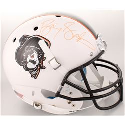 Barry Sanders Signed Oklahoma State Cowboys Full-Size Helmet (Schwartz COA)