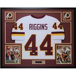 John Riggins Signed Redskins 35x43 Custom Framed Jersey (JSA COA)