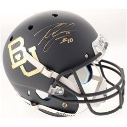 Robert Griffin III Signed Baylor Bears Full-Size Custom Matte Grey Helmet (Schwartz COA)
