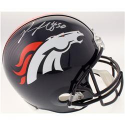 Phillip Lindsay Signed Denver Broncos Full-Size Helmet (Schwartz COA)
