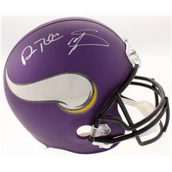 Stefon Diggs  Adam Thielen Signed Minnesota Vikings Custom Matte Purple Helmet (Schwartz COA)
