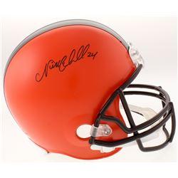 Nick Chubb Signed Cleveland Browns Full-Size Helmet (Schwartz COA)