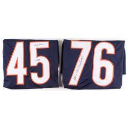 "Lot of (2) Gary Fencik  Steve McMichael Signed Chicago Bears Jerseys Inscribed ""SB XX"" (JSA COA)"