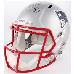 Rob Gronkowski Signed New England Patriots Full-Size Speed Helmet (Beckett COA)
