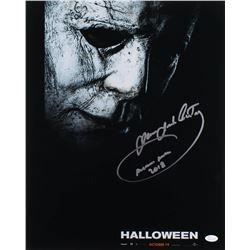 "James Jude Courtney Signed ""Halloween"" 16x20 Photo Inscribed ""Michael Myers 2018"" (JSA COA)"