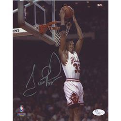 Scottie Pippen Signed Chicago Bulls 8x10 Photo (JSA COA)