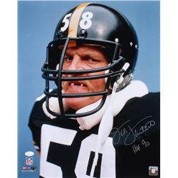 "Jack Lambert Signed Pittsburgh Steelers 16x20 Photo Inscribed ""HOF 90"" (JSA COA)"