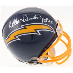 "Kellen Winslow Signed San Diego Chargers Mini Helmet Inscribed ""HOF 95"" (JSA COA)"