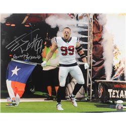 "J. J. Watt Signed Houston Texans 16x20 Photo Inscribed ""Houston Strong"" (JSA COA  Watt Hologram)"