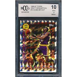 1996-97 Topps Draft Redemption #13 Kobe Bryant (BCCG 10)