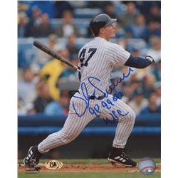 "Shane Spencer Signed New York Yankees 8x10 Photo Inscribed ""98 99 00 WSC"" (MAB Hologram)"