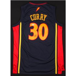 Stephen Curry Signed Golden State Warriors Throwback Jersey (PSA COA)