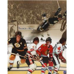 Bobby Orr Signed Bruins 16x20 Photo Collage (Orr COA)