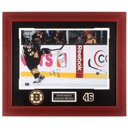 David Krejci Signed Boston Bruins 21.25x25.25 Custom Framed Photo (Krejci COA)
