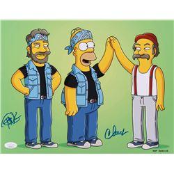 """Cheech  Chong Signed """"The Simpsons"""" 11x14 Photo (Beckett COA)"""