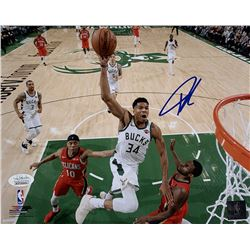 Giannis Antetokounmpo Signed Milwaukee Bucks 8x10 Photo (JSA COA)