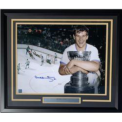 Bobby Orr Signed Boston Bruins 22x27 Custom Framed Photo Display (Great North Road COA)