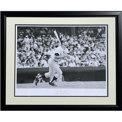 """The Hulton Archive - Mickey Mantle """"Home Run Ball"""" Limited Edition 21x28 Custom Framed Fine Art Gicl"""