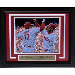 Bryce Harper  Rhys Hoskins Philadelphia Phillies 11x14 Custom Framed Photo Display