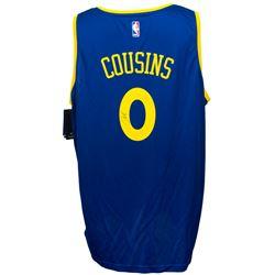 DeMarcus Cousins Signed Golden State Warriors Fanatics NBA Replica Jersey (JSA COA)