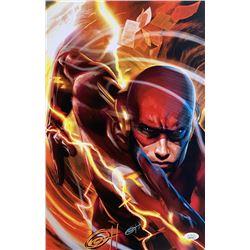 "Greg Horn Signed ""Flash"" 11x17 Lithograph (JSA COA)"