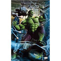 "Greg Horn Signed Marvel ""Hulk City Rampage"" 11x17 Lithograph (JSA COA)"