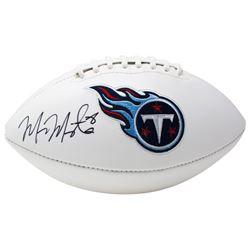 Marcus Mariota Signed Tennessee Titans Logo Football (JSA COA)