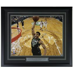 Giannis Antetokounmpo Signed 22x27 Custom Framed Photo Display (JSA COA)