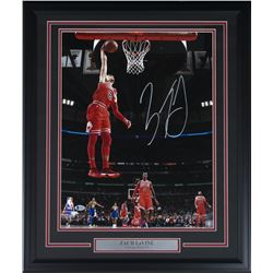 Zach Lavine Signed Chiacgo Bulls 22x27 Custom Framed Photo Display (Beckett COA)