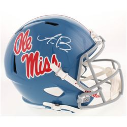 A. J. Brown Signed Ole Miss Rebels Full-Size Speed Helmet (JSA COA)