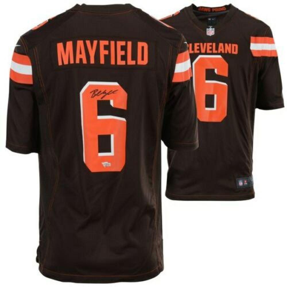 online retailer 28511 4e0c2 Baker Mayfield Signed Cleveland Browns Jersey (Fanatics ...
