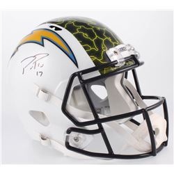Phillip Rivers Signed Los Angeles Chargers Full-Size Hydro Dipped Speed Helmet (Beckett COA)