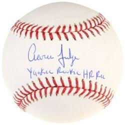 "Aaron Judge Signed Limited Edition Baseball Inscribed ""Yankee Rookie HR Rec"" (Fanatics Hologram)"