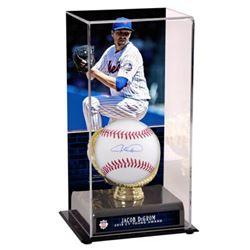 Jacob deGrom Signed OML Baseball with CY Young Display Case (Fanatics Hologram  MLB Hologram)