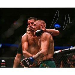 """Conor McGregor Signed """"UFC 202 Final Horn Vs. Diaz"""" 16x20 Photo (Fanatics Hologram)"""