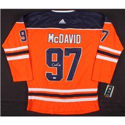 Connor McDavid Signed Edmonton Oilers Captain Jersey (PSA COA)
