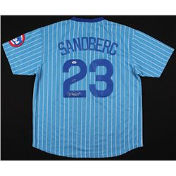 Ryne Sandberg Signed Chicago Cubs Jersey (PSA COA)
