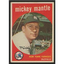 1959 Topps #10 Mickey Mantle