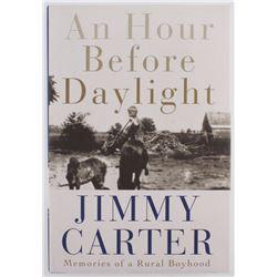 """Jimmy Carter Signed """"An Hour Before Daylight"""" Hardcover Book (Beckett COA)"""