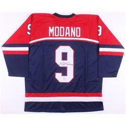 Mike Modano Signed Team USA Jersey (Beckett COA)