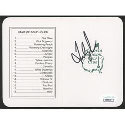"""Fred Couples Signed """"Masters"""" Augusta National Golf Club Score Card (JSA COA)"""